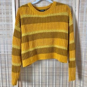 Wild Fable Yellow Stripe Knit Sweater